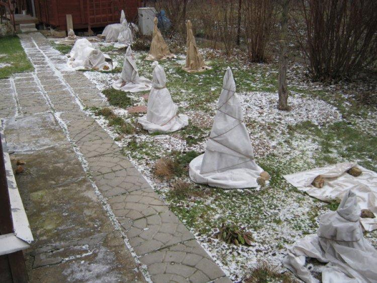 Как использовать спанбонд на зиму